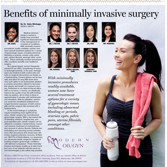Modern OBGYN featured in the Spring 2019 Avalon Edition of the Alpharetta Roswell Herald